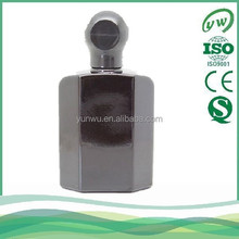 A2217-100ML pure black glass perfume bottle for men
