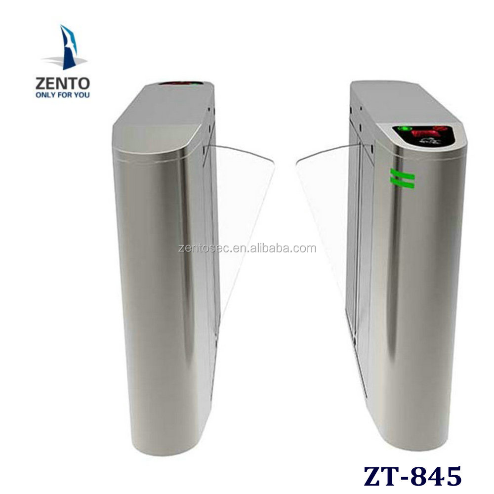 Pedestrian Access Control flap Turnstile with Rfid Reader security barrier