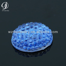 Flat back cabochon gems round resin sew on stone with bumps for jewelry