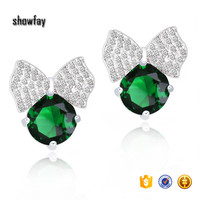 7122 Brand Earings Platinum Plated Stud Earring Fashion Cute Gift For Women