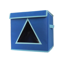 container homes functional cute print fabric bins cube storage box of triangle PVC window design
