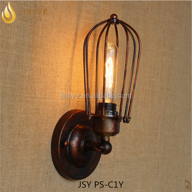 Modern Vintage Retro Industrial Loft Sconce Cage Wall Light Lamp