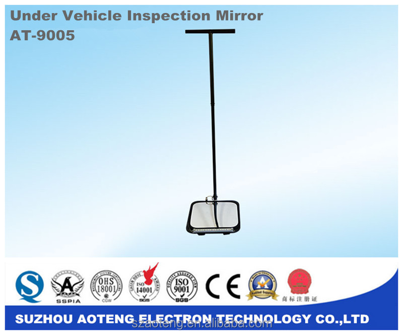 Cheap price !!! Under Car Security Bomb Detector,Under vehicle inspection mirror,Portable bottom of car detector mirror.AT-9005