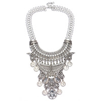 2016 new wholesale indian jewelry chunky fashion indian custom jewelry vintage costume jewelry