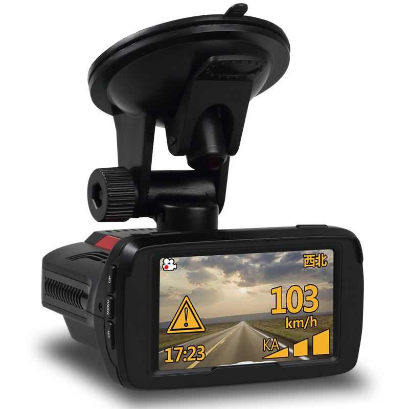 1080P Multi-function car speed recorder 3 in 1 radar detector dash cam