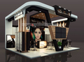 High quality makeup booth and cosmetics display booth kiosk design for sale
