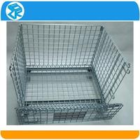 hot sale heavy duty zinc coated nesting mesh roll container