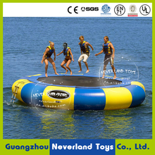 Customized NEVERLAND TOYS Floating Water Toys Inflatable Water Jumping for Adults Inflatable Water Trampoline Hot Sale