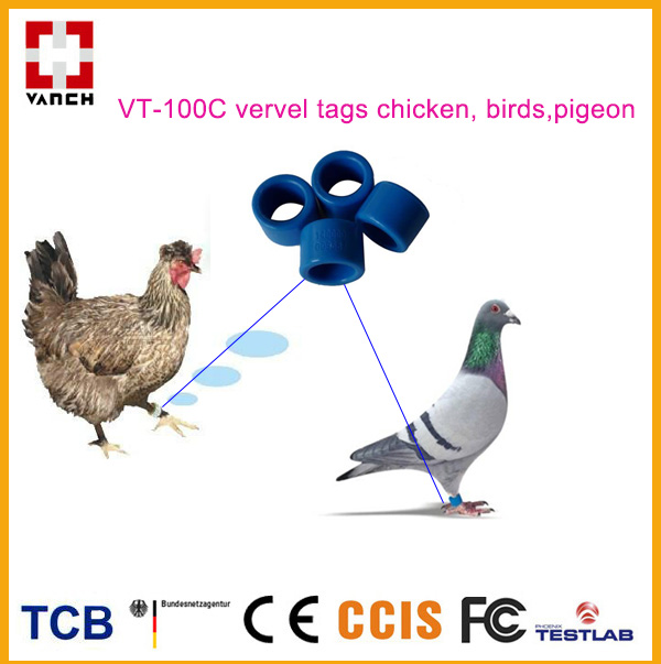 UHF RFID livestock ring tag for bird/pigeon /fowl tracking 860-928Mhz