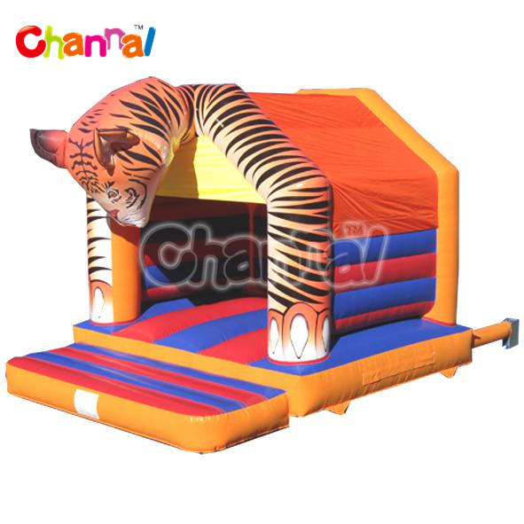 Tiger Head Bouncer for kids, inflatable jumping castle bouncer