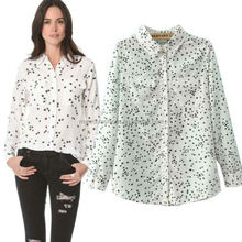 monroo 2018 western autumn stars print women tops blouse