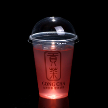 2015 750ml 550ml high quality dessert cup with lid/plastic cup with dome lid/ice cream plastic cup