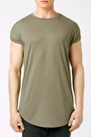 wholesale blank elongated wholesale mens scoop bottom extra long t shirt man