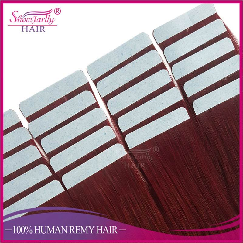 Tape in human hair extensions 100% human virgin remy highest grade on sale cheap tape hair extensions pu skin weft