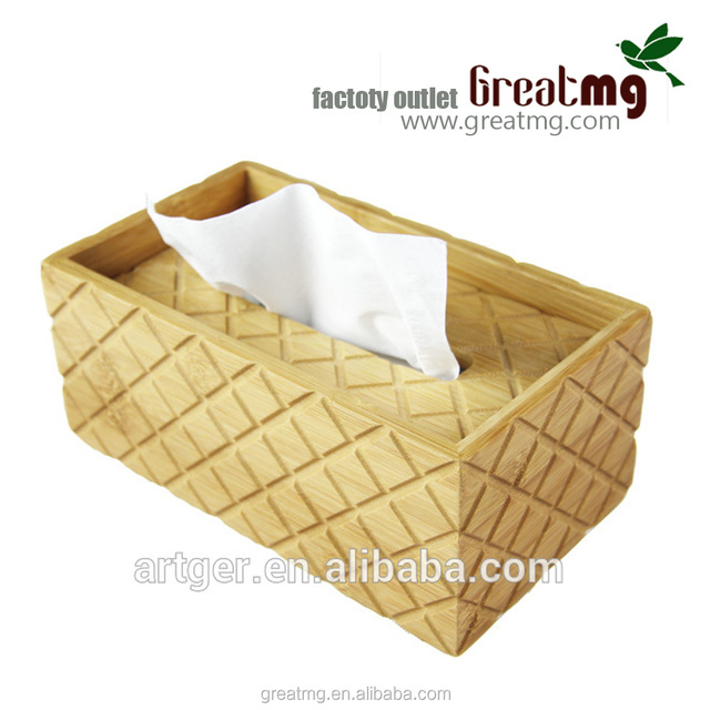 Very practicality cheap bamboo storage boxes with lids for paper towel
