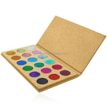 Wholesale Fashion Yellow Pressed Glitter Eyeshadow palette with glitter shadows OEM