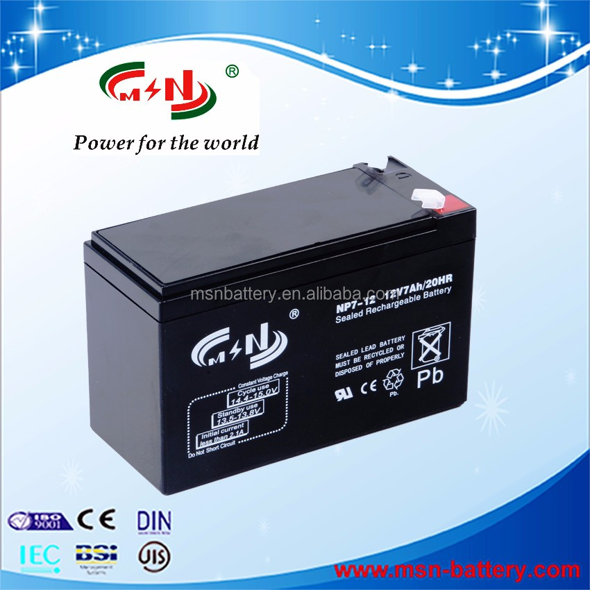 Sealed Lead Acid Storage Battery 12V 7Ah UPS rechargeable