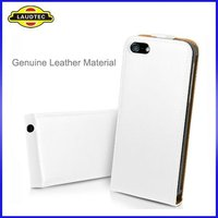 Luxury genuine leather flip case for apple iphone 5 leather pouch top quality wholesale