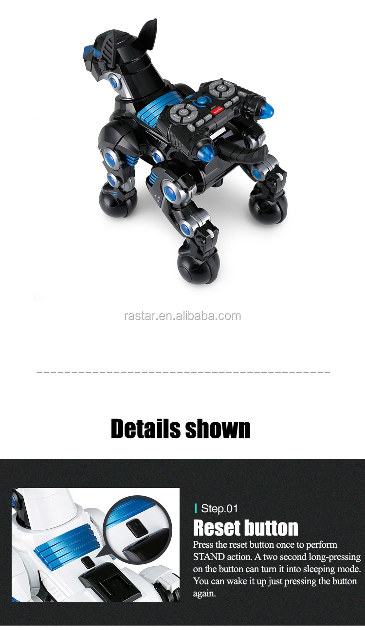 Rastar cute design electric programmable robot dog toy