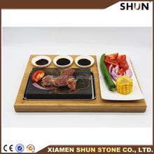 Cookware Sets Type and FDA,CE / EU Certification Hot Cooking Stone For Steak, beef stone plate set
