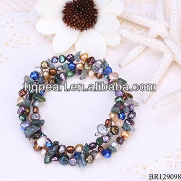 fashion bracelets pearl bracelets bangles gemstone bead stretch bracelets