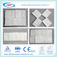 High quality disposable medical EO sterile dry wipe with CE/ISO used for hospital/clinic/restaurant