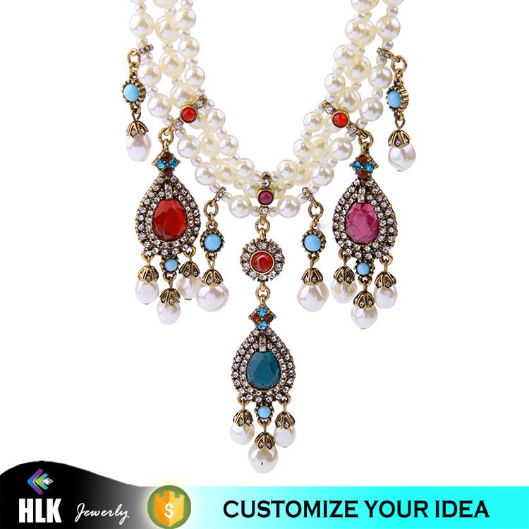 Amazon Online Boho Jewelry Multi Layered Pearl Crystal Dangle Pendants Flower Swarna Mahal Jewellers Wedding Rosary Necklace