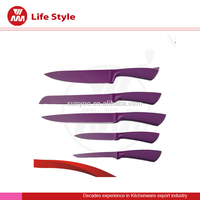 High quality 5pcs color Non-stick kitchen knife set
