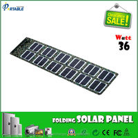 hot selling portable folding solar panel charger charge for laptop/battery/phone for camping/travel