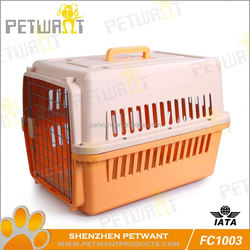 Easy to use dog cage metal wire for body plastic tray