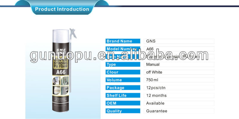 GNS foam food grade spray foam insulation