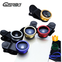 Free Sample Universal 3in1 Fish Eye Mobile Camera Lens/Eys Lens/Phone Lens