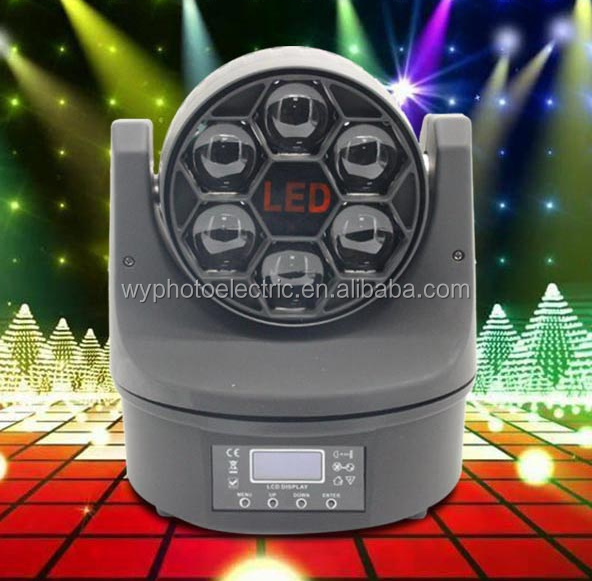Mini stage effect Bee Eye 6*15W RGBW 4in1 LED wash Beam moving head light