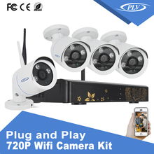 OEM ODM software <strong>hardware</strong> 720P 4ch security camera system ip cctv kit camera system for small shops