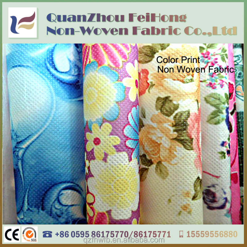 China Supply Color Print PE Laminate PP Spunbonded Non woven Fabric Price