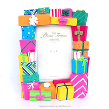 home decoration, hand-painting colorful resin photo frame, <strong>picture</strong> size: 3R 5x3.5inch