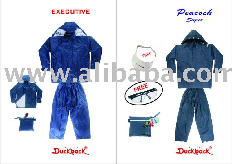 Duckback Peacock raincoat