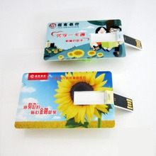 Customized Logo Plastic Ultra Slim Xmas Card USB Flash Drive 4GB, Bulk Cheap Bulk Happy Holidays Gifts Flash Card