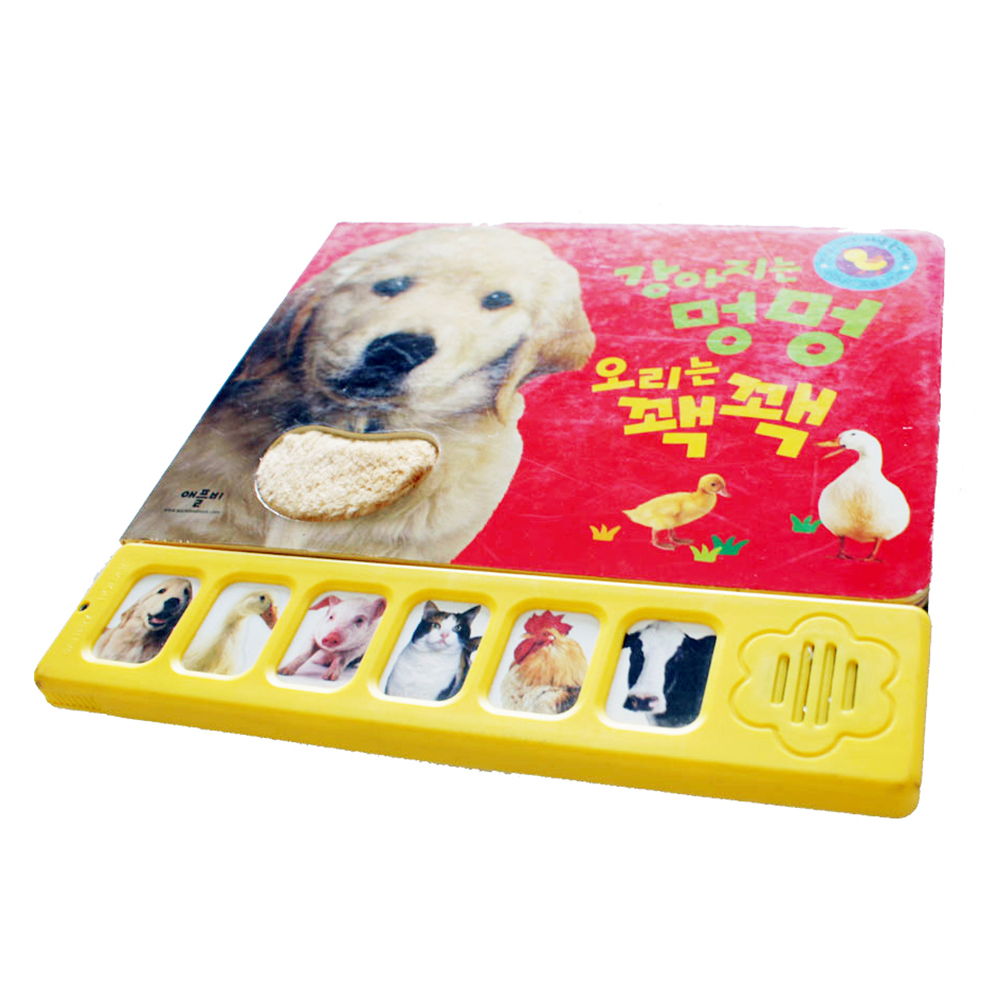 Recordable story book with sound panel for kids