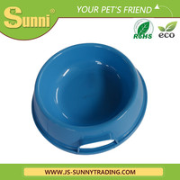 Lovely plastic dog bowl with handle