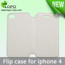 Sublimation full size printing leather flip cover for iPhone 4/4S