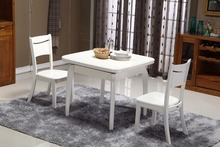 China Manufacturer wooden material scaling white dining table