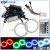 HARBOR 120mm 125mm 140mm Multi-Color RGB COB LED Halo Ring Light Angel Eyes Circle Ring Headlight DRL With Remote Control