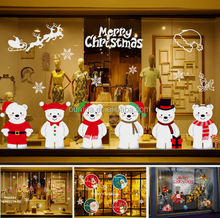 Snowman wall sticker christmas decoration
