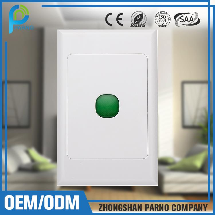 Australian standard electrical switches indication lamp home automation wireless control panel lighting switch