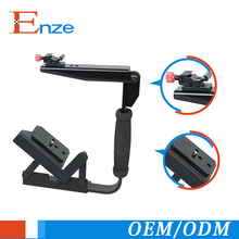 Multi-angle quick flip off camera flash bracket for dslr cell phone video camera cage stabilizer kit