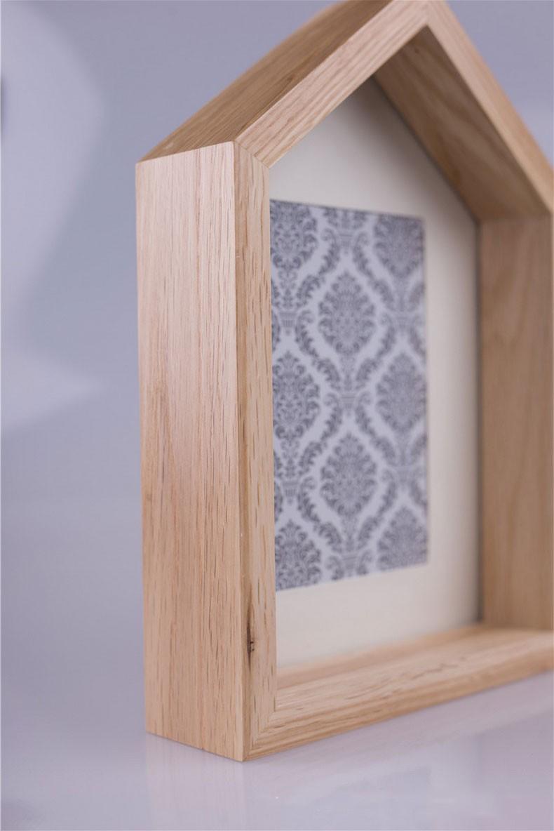 Elegante casa de madera foto marco/marco enmarañado 4x6-Marco ...