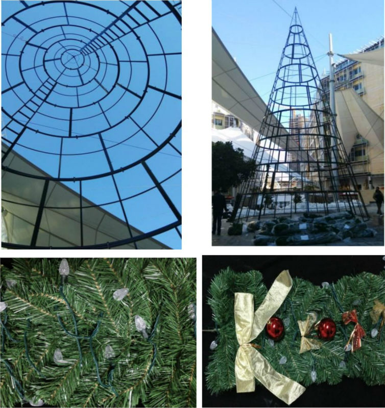 Umbrella LED giant christmas tree