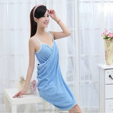 M414 custom sling towels solid and comfortable cotton adult bathrobe bathing essential bathing towel dress