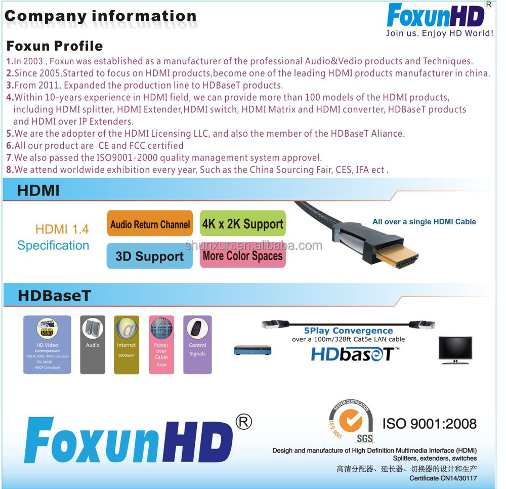 h 264 hdmi extender over ip transmitter  receiver via 120m